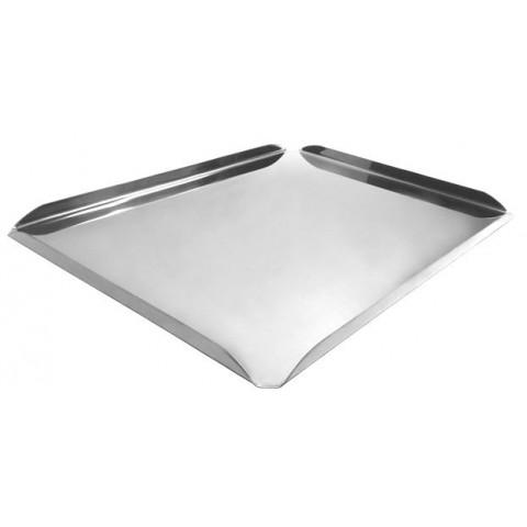 Bandeja para vitrine canto aberto higiênico 45x25x2 cm (Inox)