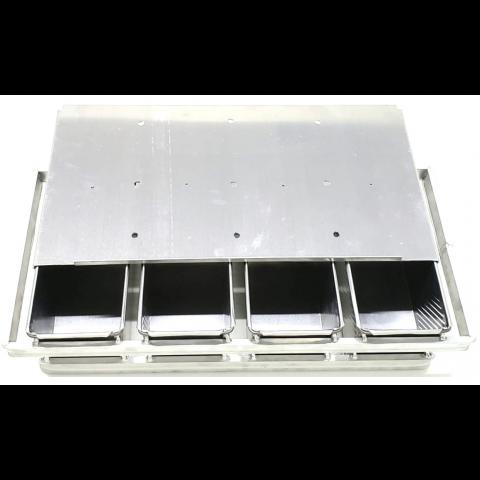 Conjunto Pão de Forma 750 gramas 4 Canecas 32x12x12 cm - Aluminio 1,0 mm - resistente - quadro de adaptação 60x80 cm