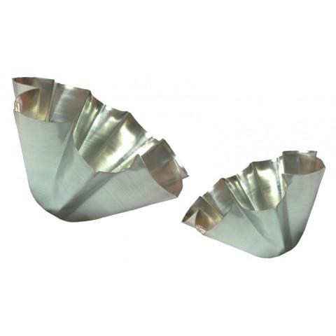 Conjunto forma de bolo pandoro 2 peças (Aluminio)
