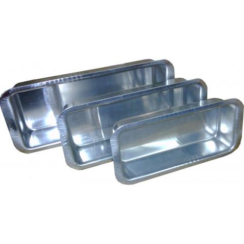Forma para pão caseiro com 3 peças (Alumínio)
