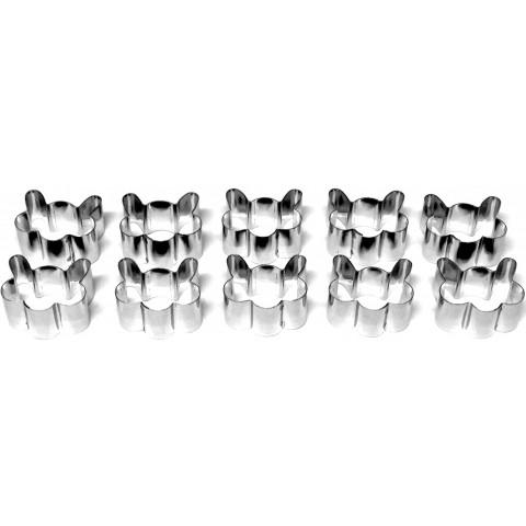 Kit Petit-Four Mini Cara de Gato (Inox) 10 peças
