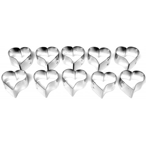 Kit Petit-Four Mini Copas (Inox) 10 peças