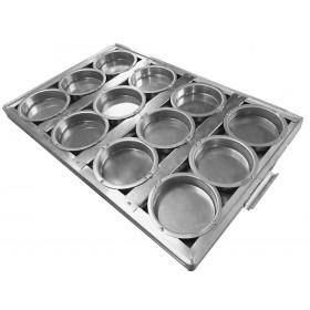 Assadeira pão de HAMBÚRGUER 60x40 cm 12 Cavidades 9x2,5 cm cm (Alumínio) PROMOÇÃO LIMITADA