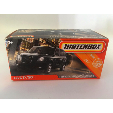 Matchbox - Levc TxTaxi Preto - Power Grabs - Básico 2020