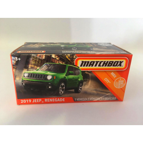 Matchbox - 2019 Jeep Renegade Verde - Power Grabs - Básico 2020