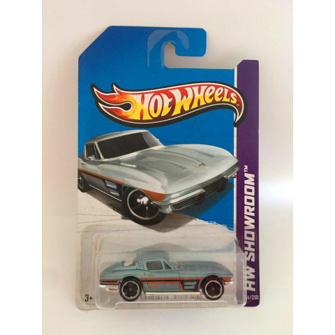 Hot Wheels - 64 Corvette Sting Ray Azul - Mainline 2013