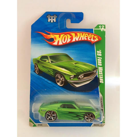 Hot Wheels - 69 Ford Mustang Verde - Treasure Hunt Normal 2010