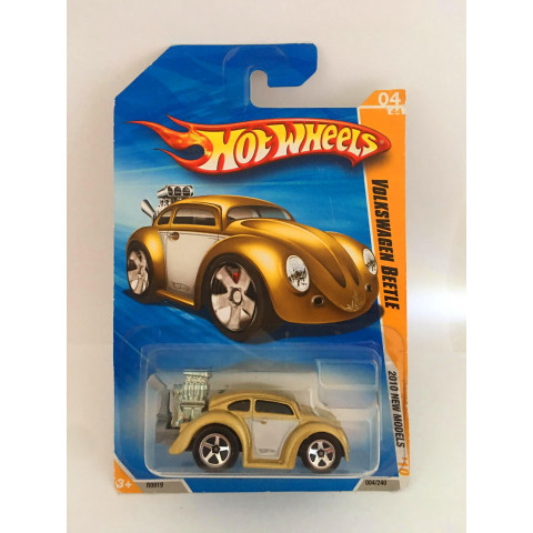 Hot Wheels - Volkswagen Beetle Dourado - Mainline 2010