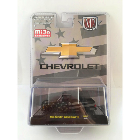 M2 Machines - 1973 Chevrolet Custom Deluxe 10 Preto - Mijo Exclusives - Limited Production 4,400 Pieces Worldwide
