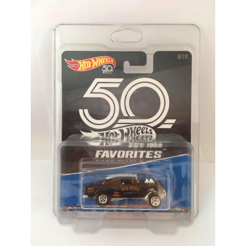 Hot Wheels - 55 Chevy Bel Air Gasser Preto - 50 Years Favorites - Kroguer Exclusivo