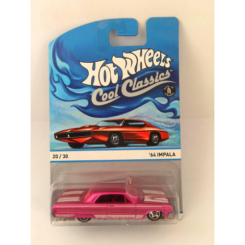 Hot Wheels - 64 Impala Rosa - Cool Classics