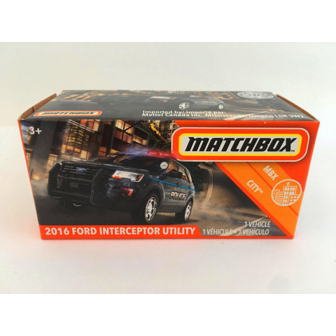 Matchbox - 2016 Ford Interceptor Utility Preto - Power Grabs - Básico 2020