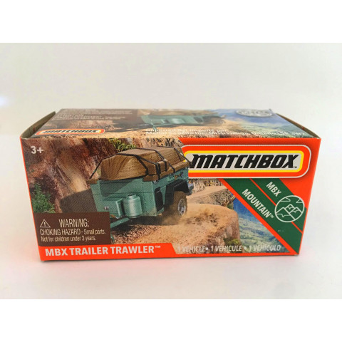 Matchbox - MBX Trailer Trawler Azul - Power Grabs - Básico 2020
