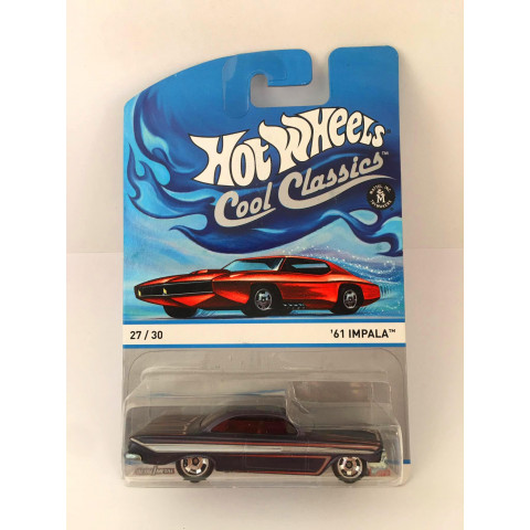 Hot Wheels - 61 Impala Azul - Cool Classics