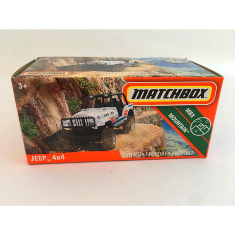 Matchbox - Jeep 4x4 Branco - Power Grabs - Básico 2020