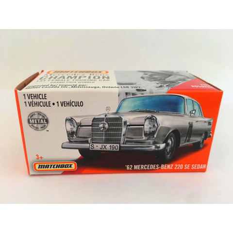 Matchbox - 62 Mercedes-Benz 220 SE Sedan Cinza - Power Grabs - Básico 2020