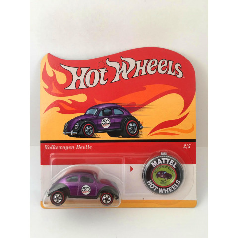 Hot Wheels - Volkswagen Beetle Roxo - 50th Challenging The Limits - Since 1968