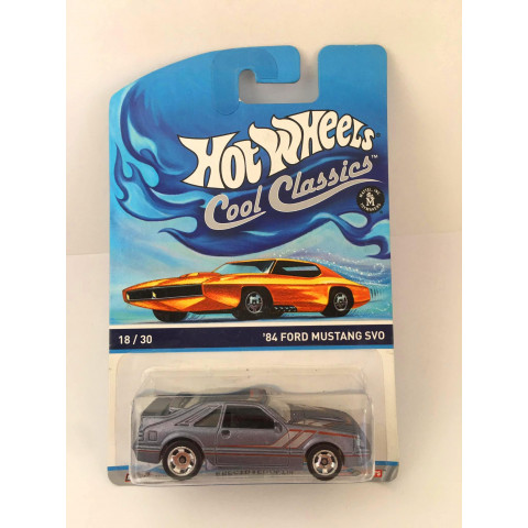 Hot Wheels - 84 Ford Mustang SVO Cinza - Cool Classics