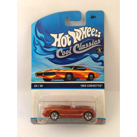 Hot Wheels - 1955 Corvette Laranja - Cool Classics