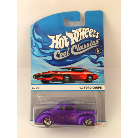 Hot Wheels - 40 Ford Coupe  Roxo - Cool Classics
