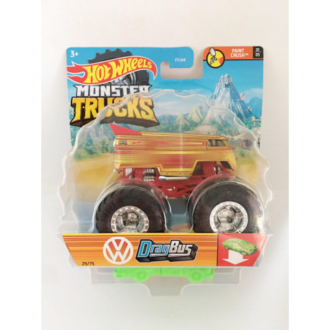 Hot Wheels - DragBus Dourado - Monster Trucks