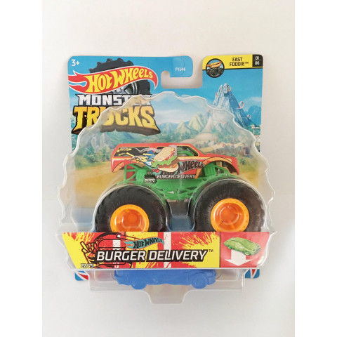 Hot Wheels - Burger Delivery Laranja - Monster Trucks