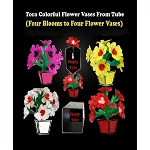 Tora Colorful Flower Vases from Tube