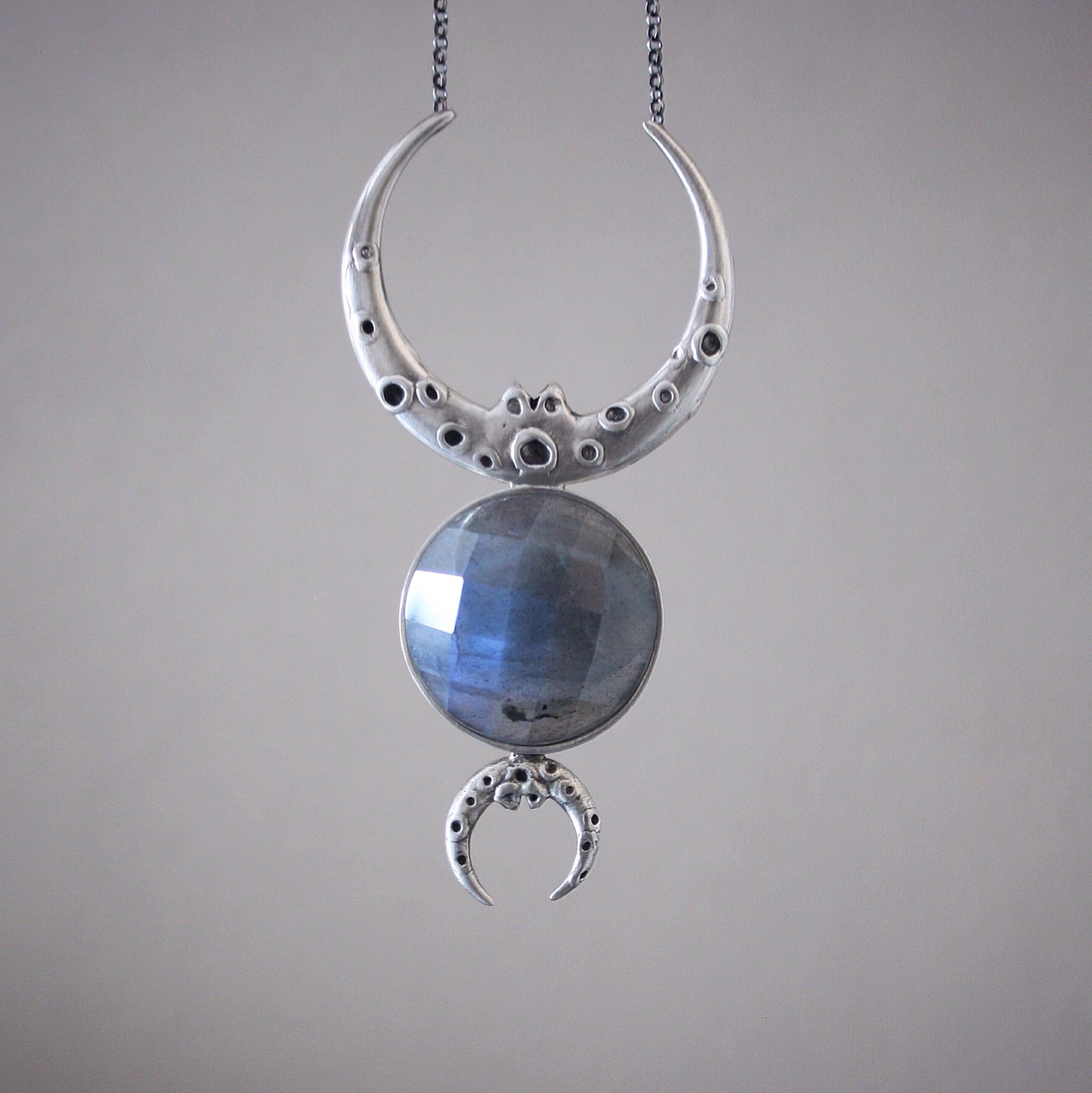 Colar Tríplice Lunar (prata)