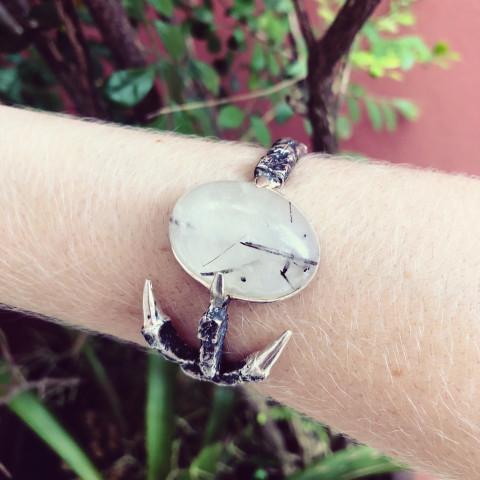 Bracelete Eagle Claw (banho prata)