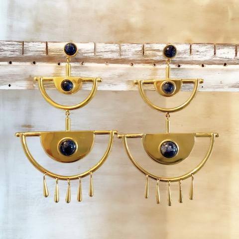 Brinco Cleopatra II (banho ouro)