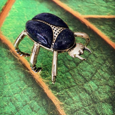 Bracelete Escaravelho (banho ouro)