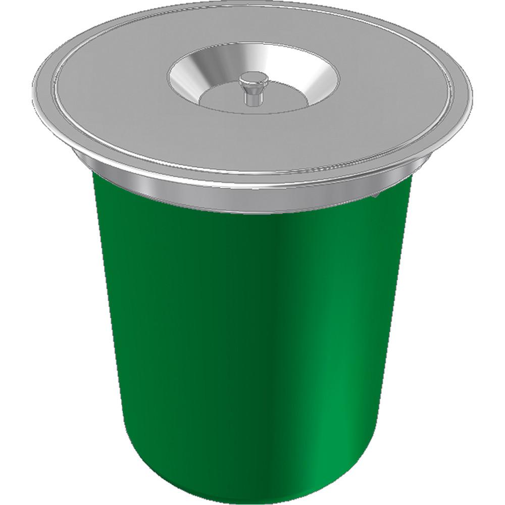 Lixeira De Sobrepor Redonda Franke Inox/Plástico 310MM