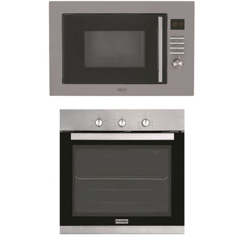 KIT FRANKE - FORNO MICROONDAS SMART 60 25 LTS + FORNO ELÉTRICO GLASS 52