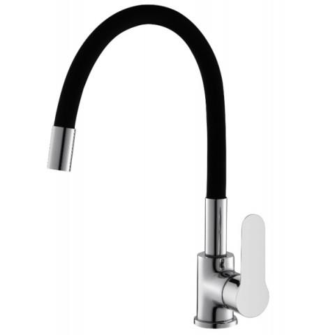 Misturador monocomando cozinha mesa - Bica Flexível livre black - 10637H