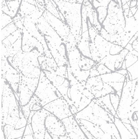 PAPEL DE PAREDE POP 10X0.52M SPLASH BRANCO/PRATA 103237 - 401301160