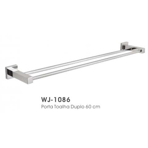 Porta toalha duplo 60cm WJ-1086