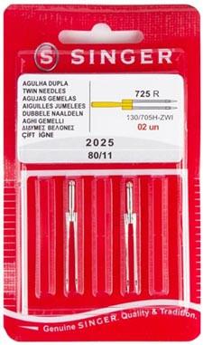 AGULHA SINGER DOMEST 2025 DUPLA C/2
