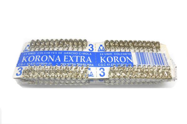 Colchete Korona Gancho Niquel N 3 C/144