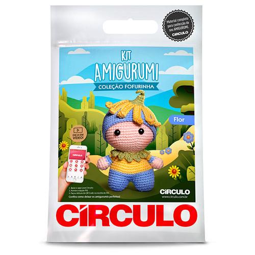 Kit Circulo Amigurumi Fofurinha 3 Flor