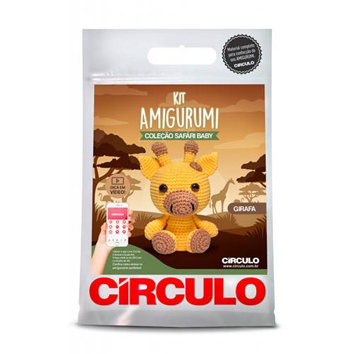 Kit Circulo Amigurumi Safari Baby 4 Gira