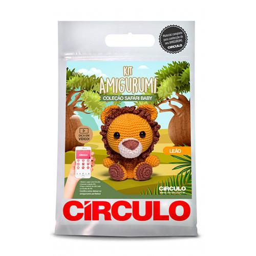 Kit Circulo Amigurumi Safari Baby 5 Leao