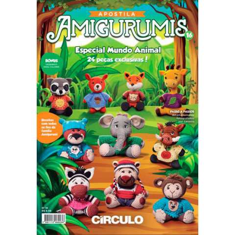 APOSTILA CIRCULO AMIGURUMIS 16 MD ANIMAL