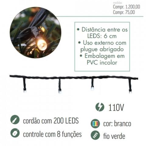 CORDAO LED CROMUS 1751221 200L BC 8F127V
