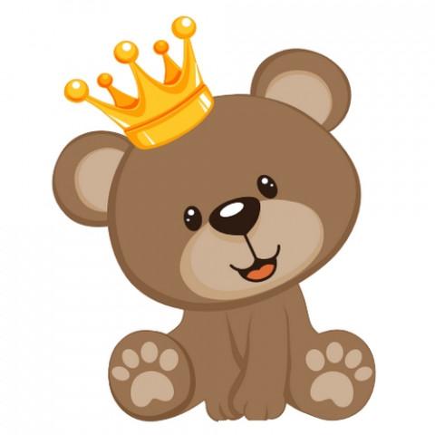 Aplique Visa Vs0974 Urso Coroa C/2