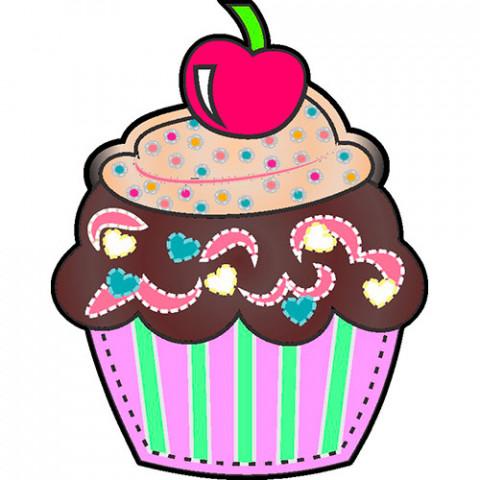 Aplique Visa Vs0035 Cupcake Cereja C/2