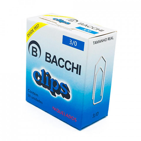 CLIPS BACCHI NIQUEL. 3/0 C/50