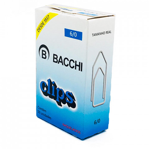 CLIPS BACCHI NIQUEL. 6/0 C/50