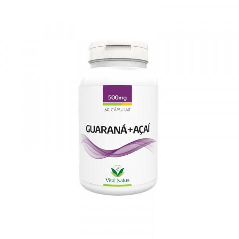 Guaraná + Açaí - 60 capsulas 500mg - Vital Natus