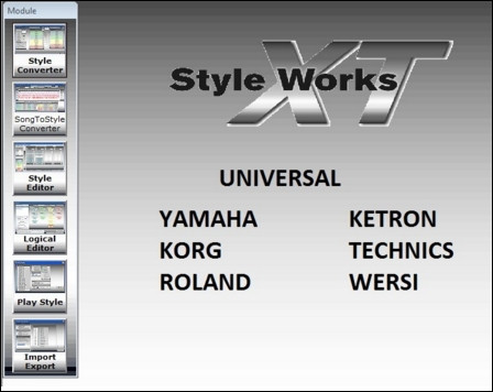 Style Works XT Universal v4.97 - Programa conversor de rítmos (Windows XP/Vista/7/8/10)