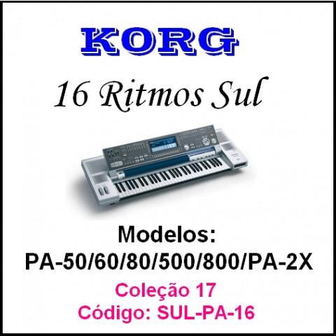 16 Rítmos brasileiros do Sul para teclados Korg